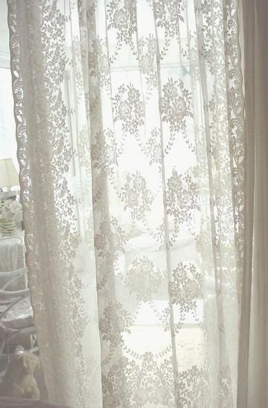 gorgeous french lace curtains  roses  trellis