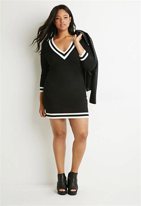 forever 21 sweater dress forever 21 plus size varsity striped sweater dress in