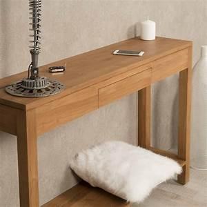 Console En Bois : console de salon en bois de teck massif moderne rectangle naturel l 120 ~ Teatrodelosmanantiales.com Idées de Décoration