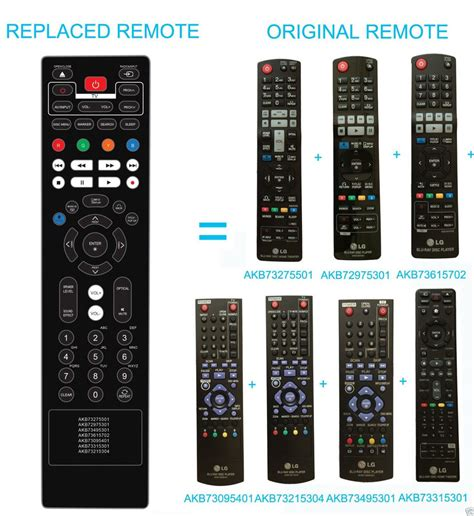 Blu Ray Disc Home Theater System Remote Akb