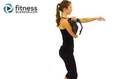 kettlebell workout fitness blender kettlebells beginner fitnessblender routine kettleball kells training routines kell body weight total