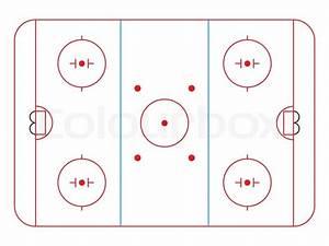Ice Hockey Rink Diagram  Vector Illustration