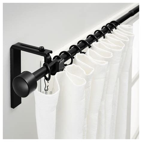 Curtain Rods by R 196 Cka Curtain Rod Combination Black Ikea Home Ceiling