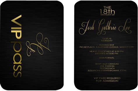 design your own invitations id vip pass b josh 18