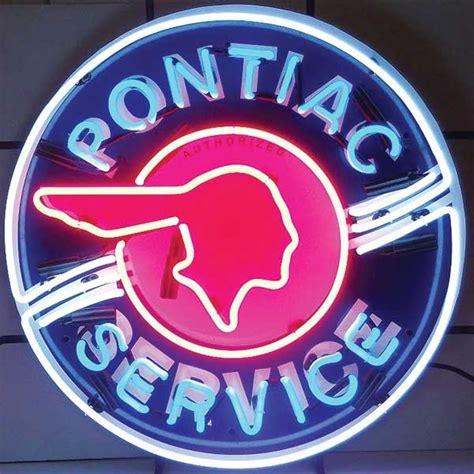 pontiac neon sign tp tools equipment