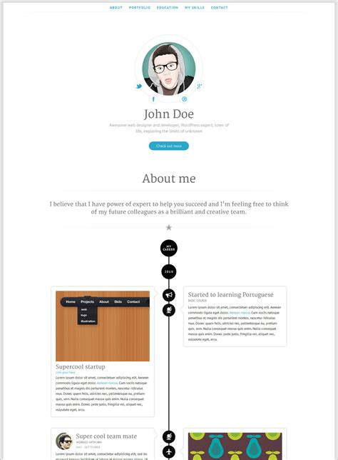 creative  cv resume template  web graphic