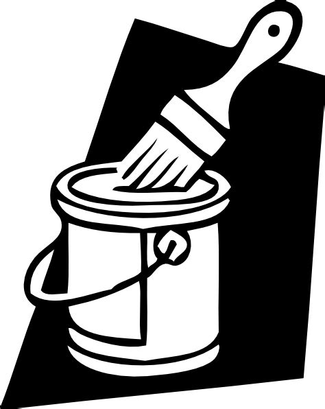 paint can clipart paint can and brush clip at clker vector clip