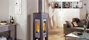 Chauffage Design : chauffage au bois performant colo et design c t ~ Melissatoandfro.com Idées de Décoration