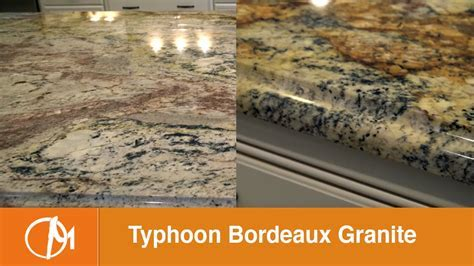 Typhoon Bordeaux Granite Kitchen Countertops   YouTube