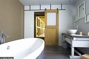 le top 20 des salles de bains d39internautes a voir cote With porte de douche coulissante avec deco salle de bain rouge