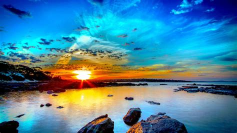 Sunsets Beach Sky Beautiful Nature Morning Sunset