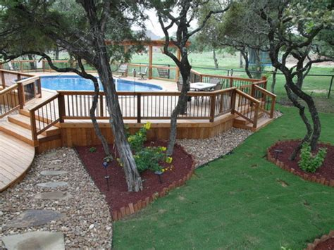above ground pool deck designs pictures the best tips for above ground pool landscaping ideas