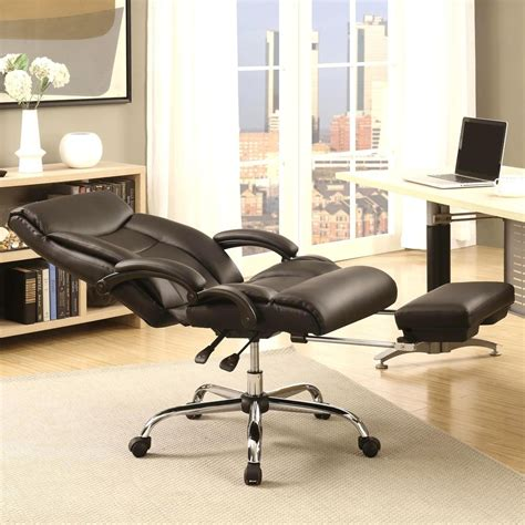 executive adjustable reclining office chair with