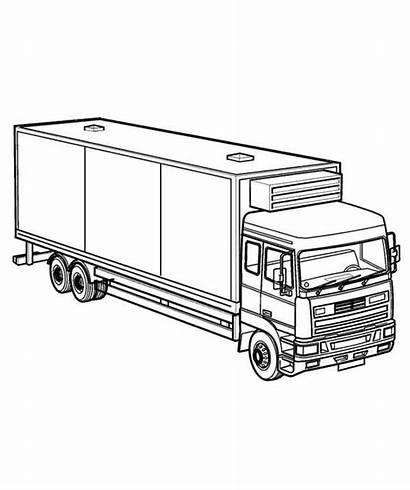 Coloring Truck Semi Rig Netart Trucks Southwestdanceacademy