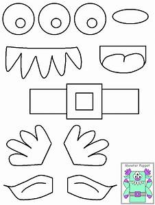 halloween craft ideas monster puppets ikidz training With template monter