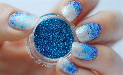 Full Glitter Ombre Nail Art