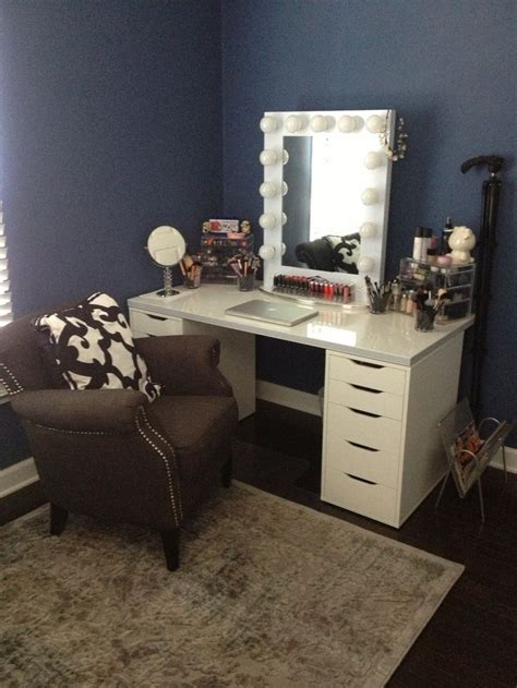 vanity table with lighted mirror ikea make your own vanity drawers ikea alex table top ikea
