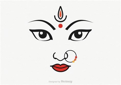 Vector Goddess Durga Illustration