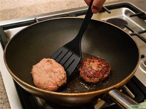 cook hamburgers   stove recipe   cook