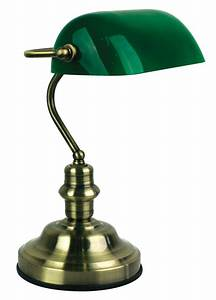 table lamp 3 stage touch dimmer w glass shade 40cm bankers With table lamp shades 40cm