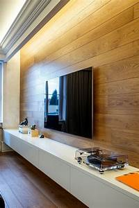 Beleuchtung Im Wohnzimmer : 43 super designs von wandpaneel aus holz ~ Bigdaddyawards.com Haus und Dekorationen