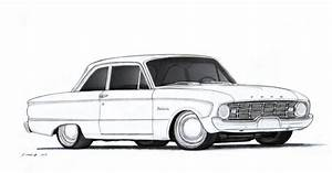 1960 Ford Falcon Coloring Book Page