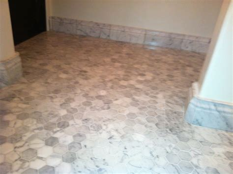 oracle tile and marble carrara white marble honed 2 quot hexagonal mosaic tiles with