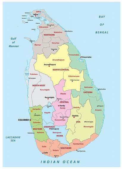 Lanka Sri Map Worldatlas Provinces Maps Atlas