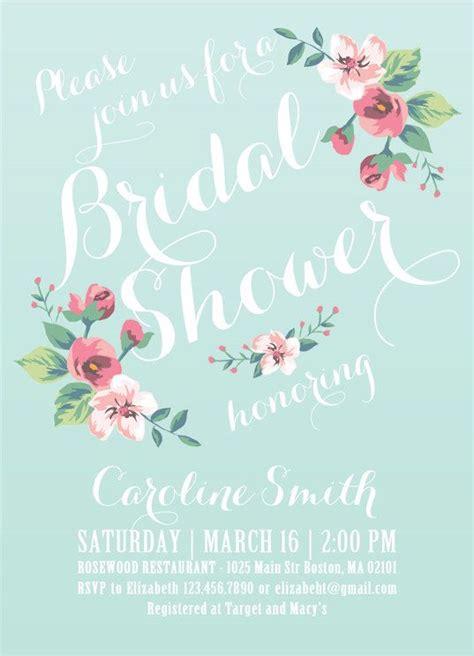 printable bridal shower invitation vintage floral