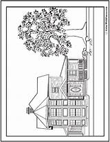 Dog Coloring Houses Printable Bones Colorwithfuzzy sketch template