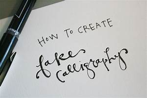 How to create fake calligraphy tutorial practice for Calligraphy pen letters