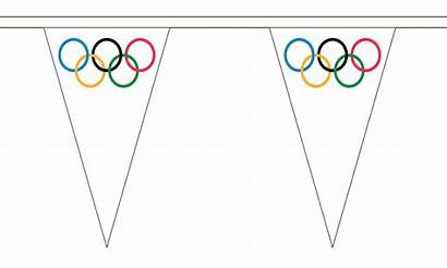 Bunting Olympic Triangle Flag 5m Decoration