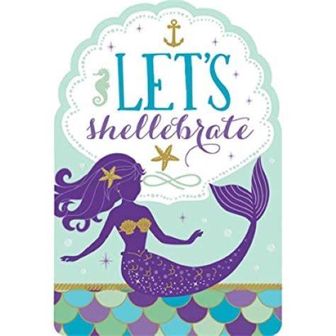 mermaid wishes invitations stickers seals envelopes