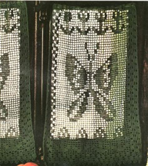 rideaux au crochet filet quot papillon quot tutoriel gratuit le