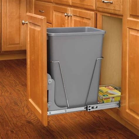 rv kitchen cabinet organizers rev a shelf single trash pullout 35 quart silver rv 12kd 5033
