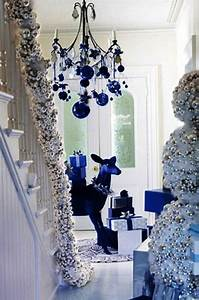 Blue And White Christmas Decorating Ideas