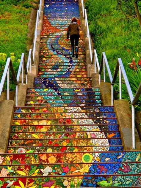 16th avenue tiled steps artistic mosaic stairs 16th avenue tiled steps
