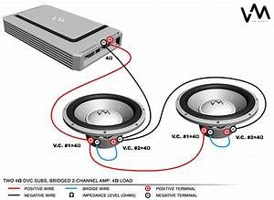 4 Ohm Dual Voice Coil Subwoofer Wiring Diagram  With