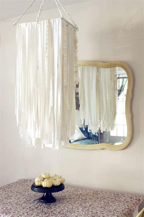 diy oversized fabric garland chandelier  beautiful mess