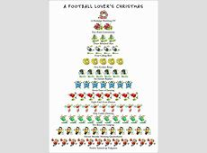 Football Lover's 12 Days of Christmas Card by Allport Editions
