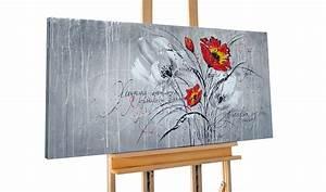 Douglasie öl Grau : xxl acrybild blume grau rot kaufen kunstloft ~ Lizthompson.info Haus und Dekorationen