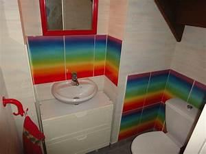 idee carrelage salle de bain castorama With carrelage adhesif salle de bain avec luminaire 60x60 led