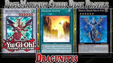 dragunity deck tag 5 yu gi oh dragunity deck profile post maximum crisis we