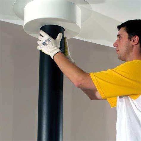plaque de finition plafond poujoulat poujoulat plaque de finition ronde blanc pour conduit inox galva h12 cm conduit 233 maill 233 216 150