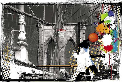 deco chambre basket poster géant basket sur le pont de affiche