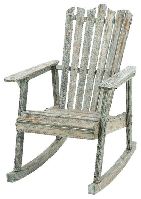 fashioned rocking chair wood weathered home patio