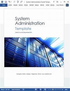 System Administration Guide Template  U2013 Technical Writing Tools