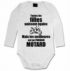 Cadeau Pour Un Motard : body toutes les filles naissent gales mais les meilleures ont un parrain motard ~ Melissatoandfro.com Idées de Décoration