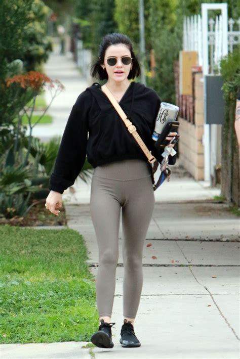 Lucy Hale Wearing leggings out in LA - Celebzz - Celebzz