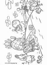Squarepants Squidward Esponja Tentacles Patrik Wydruku Kleurplaat Malowanki sketch template